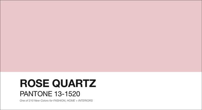 rosa quartzo pantone