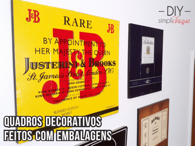 DIY quadros decorativos cabeçalho