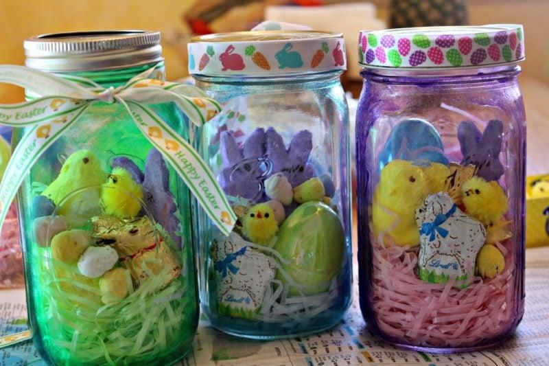 decoração de páscoa potes de vidro 02