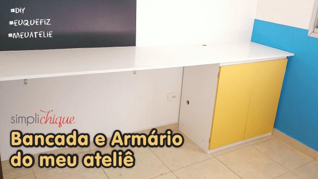 diy bancada armário simplichique