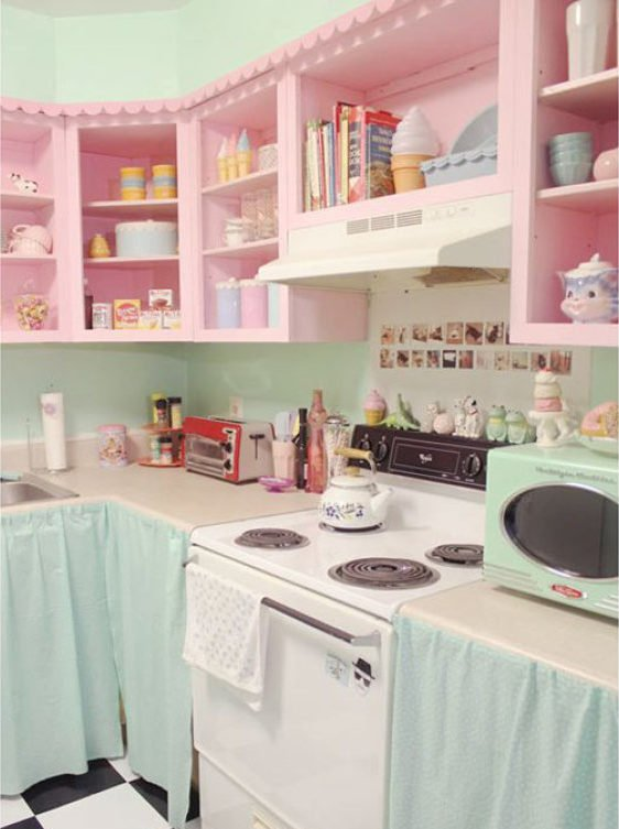 armário de cozinha colorido 15