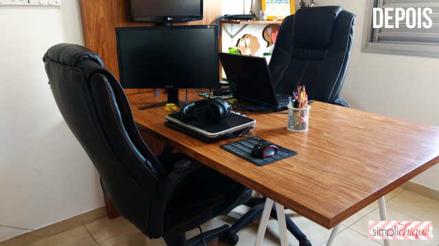 casa arrumada escritório depois simplichique