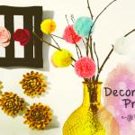 DIY decoração temática de primavera para alegrar sua casa