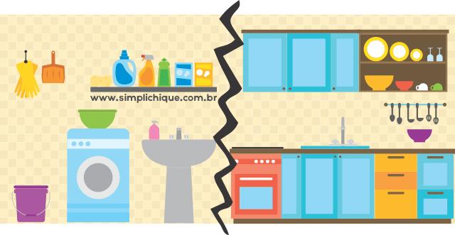 Como esconder lavanderia integrada à cozinha?