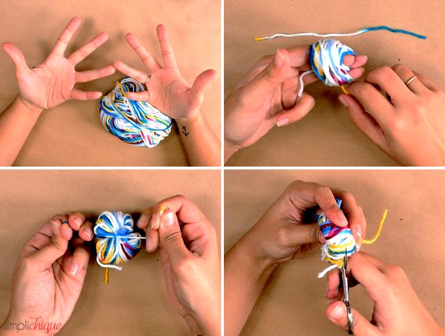 como fazer pompom
