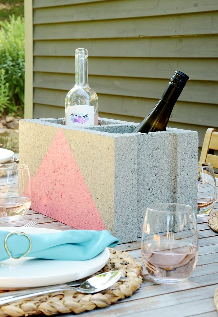 diy cooler bloco de concreto