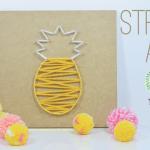 Quadro tropical com string art de abacaxi {DIY COLETIVO}