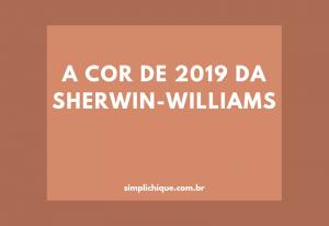 Caverna: cor do ano 2019 da Sherwin-Williams