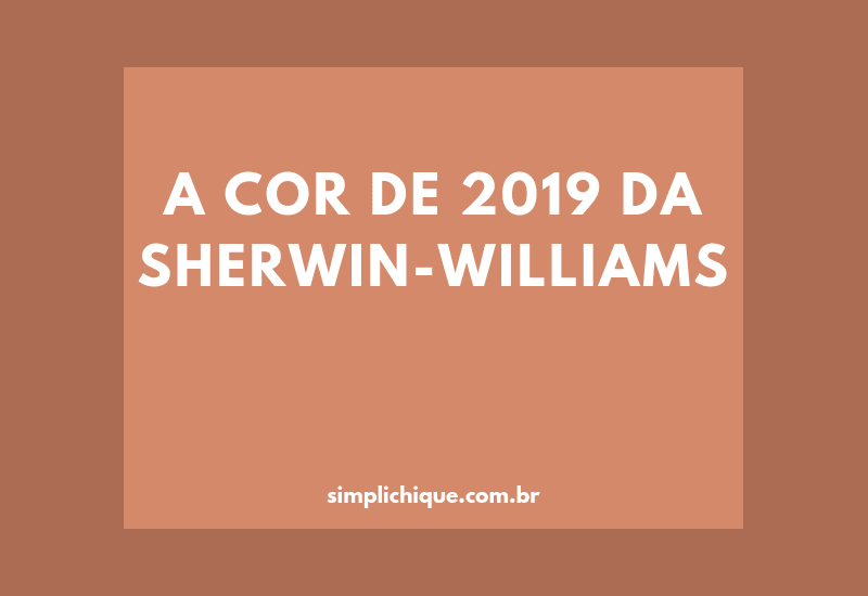 Caverna: cor do ano 2019 da Sherwin-Williams