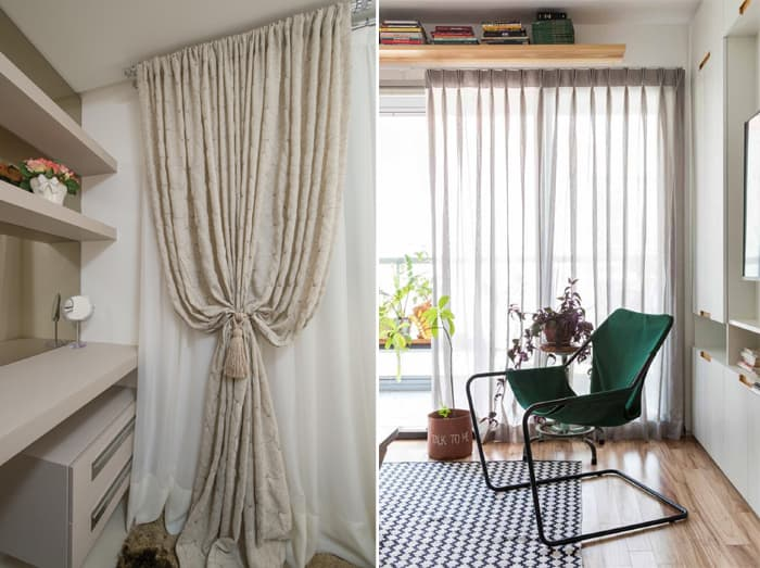 como usar cortina