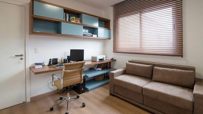 Escrivaninha suspensa para área de estudos e de trabalho