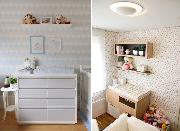 quarto de bebe com papel de parede