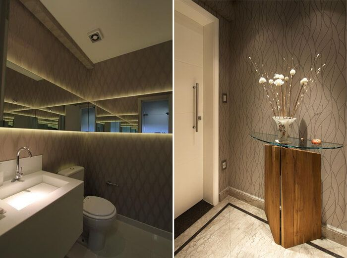 papel de parede no lavabo