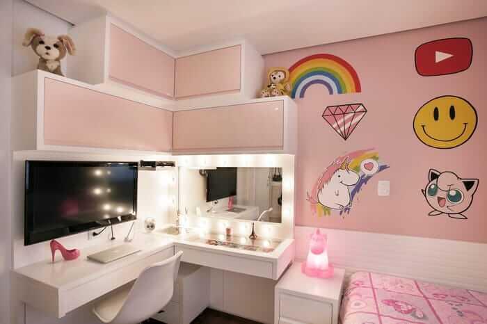Penteadeira: um salão particular na decoração do quarto