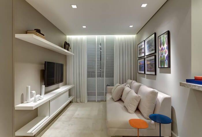 sala com cortina e persiana
