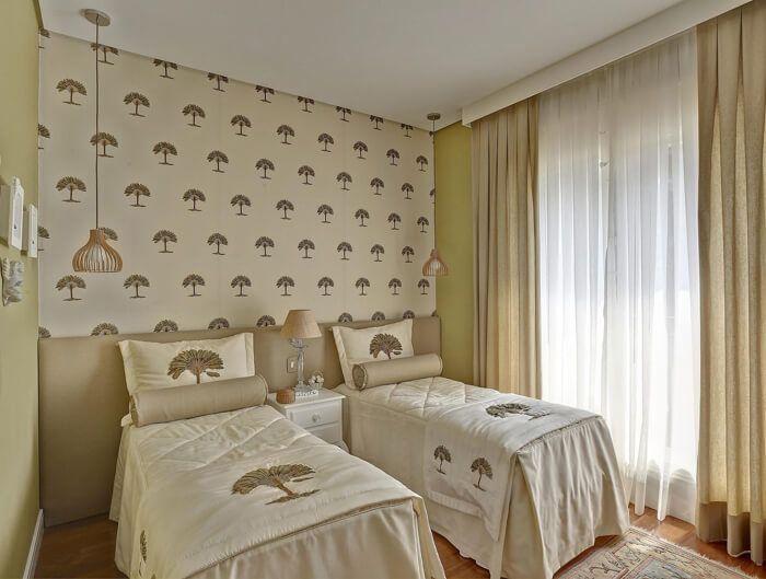 colchas para decoração quarto infantil com duas camas
