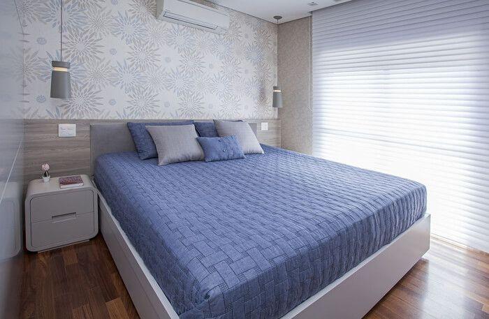 decoração de quarto com colcha