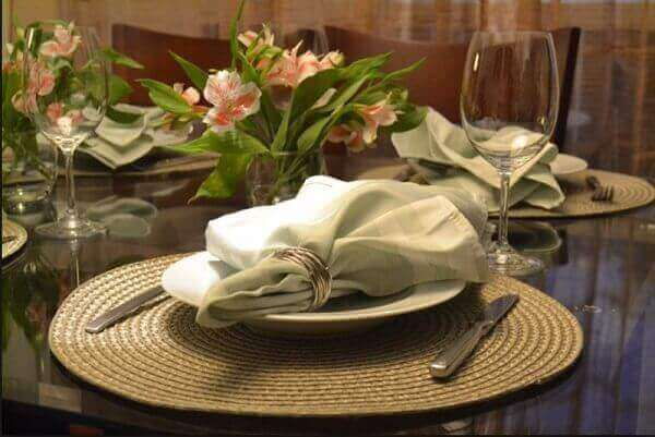 decoração mesa de jantar